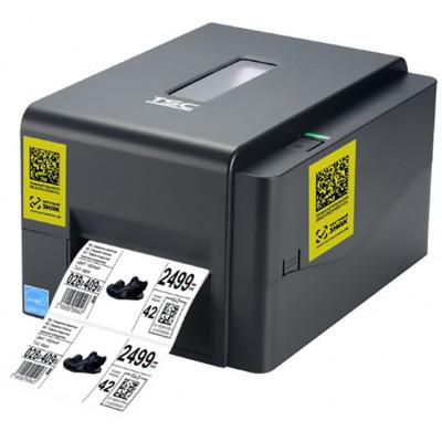 Принтер этикеток (термотрансферный, 203dpi) TSC TE200 DM, драйвер для работы с csv файлами, риббон